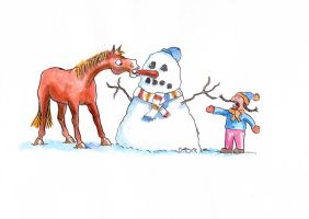 Snowman- the carrot conundrum by choccy-uk