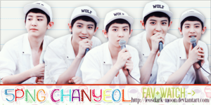[300614] Gift 5 PNG Chan Yeol {Free} by LeosDark-Moon