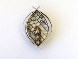 Tribal Brooch by silver-zaira