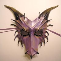Purple Leather Dragon Mask by teonova