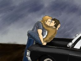 Evening --  Dean-Castiel AU by Deerane