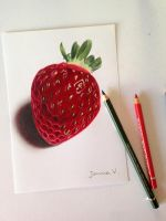 A delicious strawberry by Joanna-Vu