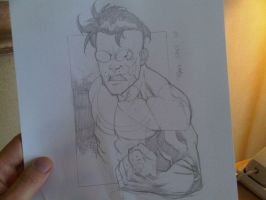 COMICON sketch INV angry by RyanOttley