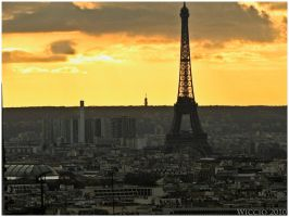 Tour Eiffel from Montmartre by Wiccio