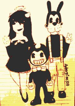 Bendy and Friends by Aubergine100