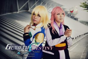 Gundam SEED Destiny: Cagalli and Lacus by vampire-mage