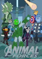 Animal Forces ( Avengers poster ) by MCsaurus
