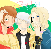 APH Bad Friends Trio by NamelessAnami