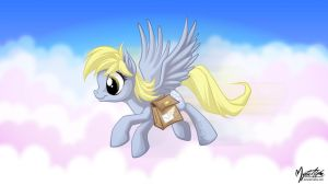 Derpy the Mail Pony 16:9 by mysticalpha