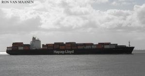 German container ship Dallas Express 2000- by roodbaard1958