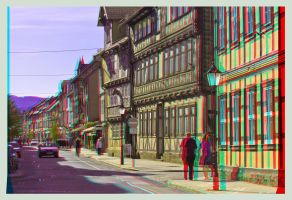 Old Town Of Wernigerode 3D by zour