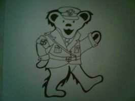 nazi grateful dead bear by uber-pansy