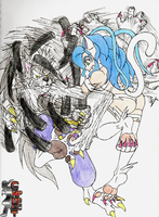 Talbain Vs Felicia by Pltnm06Ghost