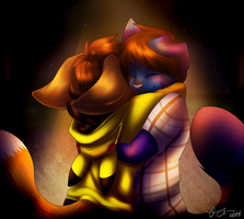 'I'd still be holding you like this' /speedpaint/ by Freeze-pop88
