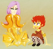 saint seiya - mu and kiki by spoonybards