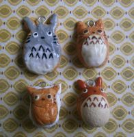 Totoro Clay Bakery Charms by Fimochu