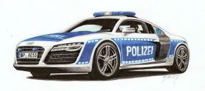Audi R8 Bundespolizei by nessi6688