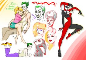 Joker'n'Harl - sketches by artlekina