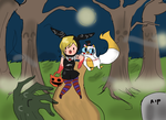 at - halloween contest by Justenjoyme