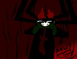 Aku! THE SHAPE SHIFTING MASTER OF DARKNESS! by Rubber-Rainbows