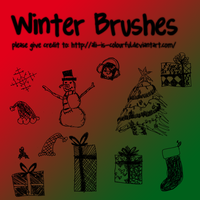 winter-xmas doodle brush packO by ali-is-colourful