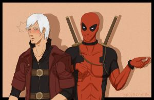 255 Dante and Deadpool by BlastedKing