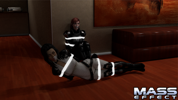 Shepard and Miranda in Distress by TheBlenderTaper