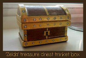 Zelda treasure chest trinket box by stephanie1600