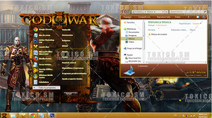 Theme Windows 7: God of War by ToxicoSM