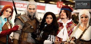 Geralt of rivia, triss, yennefer, jaskier et ciri by Zephon-cos
