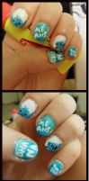 Lilo and Sitch Nail Art by TheHungrySquid