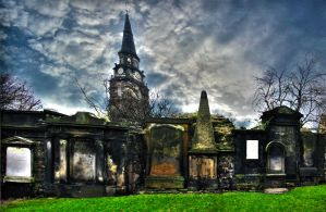 St. Cuthbert's Graveyard by Ever-Winter-Dreams