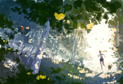 Spring run. by PascalCampion