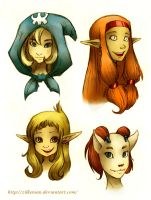 Dofus: Ladies by Zilkenian