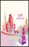Japan illustration by Fenster