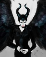Monday Portrait Paintings: Maleficent (cropped) by thewordlesssignature