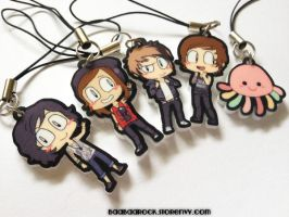 Kellin, Vic, Alex, Austin, and Squidgy charms by shaolinfeilong