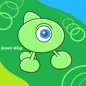 Green Wisp by JerrythePlayer360