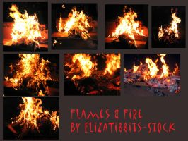 Flame and Fire Pack by ElizaTibbits-Stock