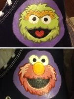 Grouch and elmo hi top by Wilson250380