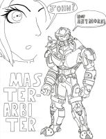 MASTER ARBITER no color by brasilianoids