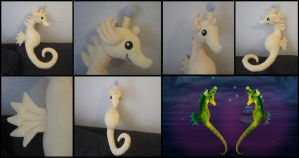 Seahorse plushie from Majora's Mask by Miss-Zeldette