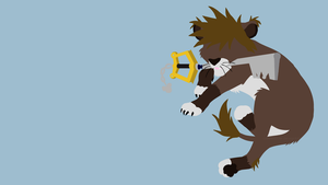 Free Vector Wallpaper: Sora Lion Form by Crestie