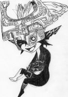another midna sketch by impish-midna