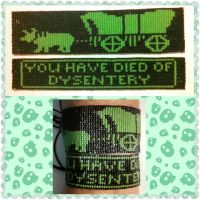 Oregon Trail Bracelet Set by ravenarcana