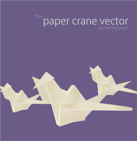 Paper Crane Vector by letterbyowl