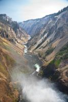 Grand Canyon of the Yellowstone from Lower Falls by miniwyo