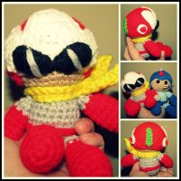Mega Man and Proto Man Amigurumi by oywiththeplushies