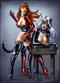 Black Cat and MJ color by Candra