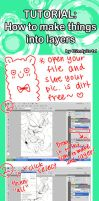 How to make lineart into layer by C2ndy2c1d